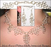 Silver Euro-Mobius Set by immortaldesigns