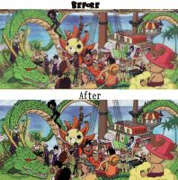 One Piece Dbz Crossover Before And After by DinstruMental