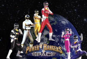 Rangers in Space wallpaper by mewpearl