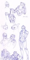 Turian sketches by merrypaws
