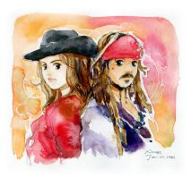 Jack and Angelica by amoykid