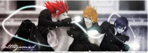 Axel, Roxas and Xion signature by CLFF