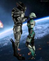 Saren And The Commando by DorkyLaughter