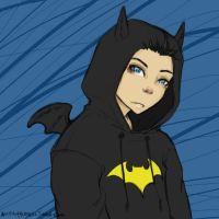 dcu - bat hoodie by captainbloodcorsair