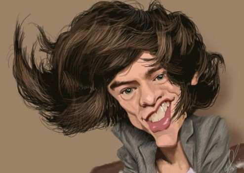 Harry Styles Caricature by Steveroberts