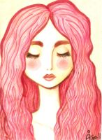 Girl with pink hair by palmcastle