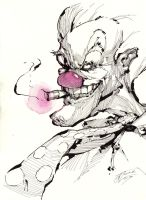 $10 Sketches: Evil Clown by Gumbogamer