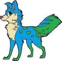 Adoptable Wolf by Bradley-The-Blue-Fox