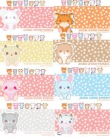 Plushie Animal Wallpaper Pack by xXAli-StarXx