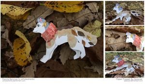 Paper Puppet Commission- Paiute (Posed!) by Spazzel