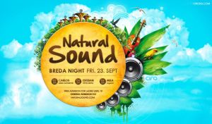 Natural Sound Party Flyer by CIROdg