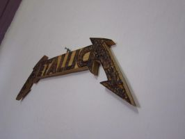 Wooden Metallica Logo P3 by Binary-Map