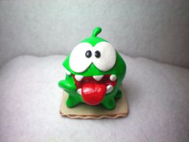 Om Nom Figure by OhThePlushabilities