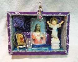 Cosmic Jesus Alter by dellydels