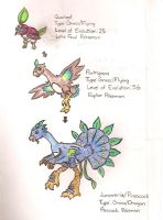 Peacock Fakemon by OneshotMiracle