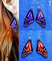 Butterfly Wing Earrings by TrollGirl