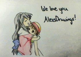 Fuko and Ushio for AlexsDrawings by Kotome-chan