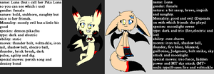 Luna dubble ref. eevee and pika form by LunaticDemonLuny