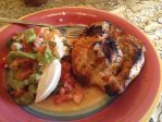 Grilled chicken breast and dressed arepas by BewilderedFemale