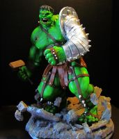 Planet Hulk painted statue by mycsculptures
