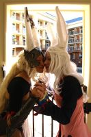 Cosplay: Bunny Kisses by burloire
