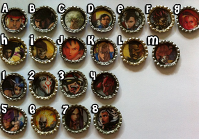Street Fighter and MvC3 Magnets by nanashisangel