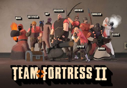 Fantasy Team Fortress 2 by Metallicfire0