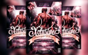 Xclusive Party Flyer by squizmo
