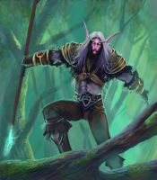 Night Elf Forest by jimbradyart