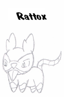 Fakemon- Rattox by Casey333