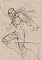 Another iron man sketch by Nehemya