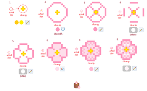 Simple Pixel Flower Tutorial by Buried-Above-Love