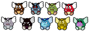 PAPER MARIO - The Paragoombas by Xpedia
