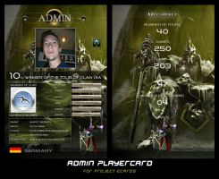 Project Ecards Playercard by coinside