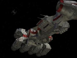 Blockade Runner bottom view by TequilaBill