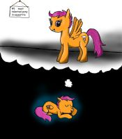 the scootaloo dream by beginerbrony