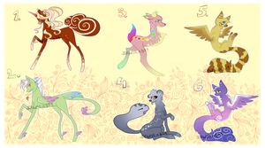 Mixed Adoptables #2 [CLOSED] by Siinys