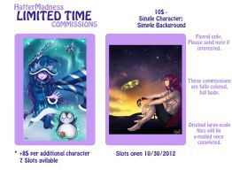 Limited Time Commission List by HatterMadness