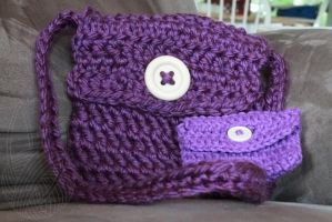 Purse and Coin Purse combo (Kid Size) - on Etsy by theyarnbunny