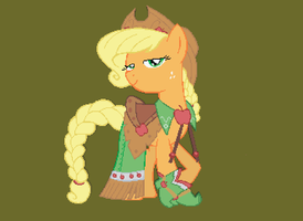 Minecraft Art: Applejack Gala Dress by AB-Anarchy