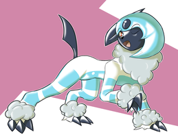Squeaky absol by HelixJack