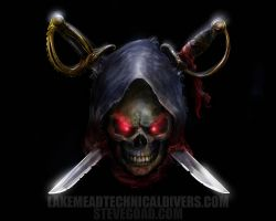 Reaper Skull and Crossblades by stevegoad