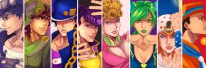 ALL STAR JOJOS by uchihakagura1