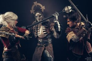 See, I can do it too! Ciri,Eskel,Caranthir Cosplay by KADArt-Cosplay