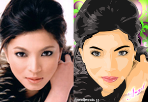 Angel Locsin-Vector Art 2 by DeVianTLei
