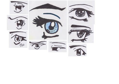 home made eyes by Lebellove