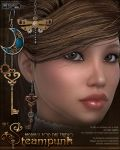 Steampunk Earrings for DAZ by cosmosue