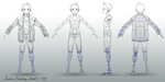 Bones model sheet by TheRogueSPiDER