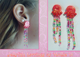 Jellyfish earrings by Sharkliver