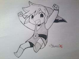 Link (The Legend of Zelda)- Manga Style 2 by Yuma76